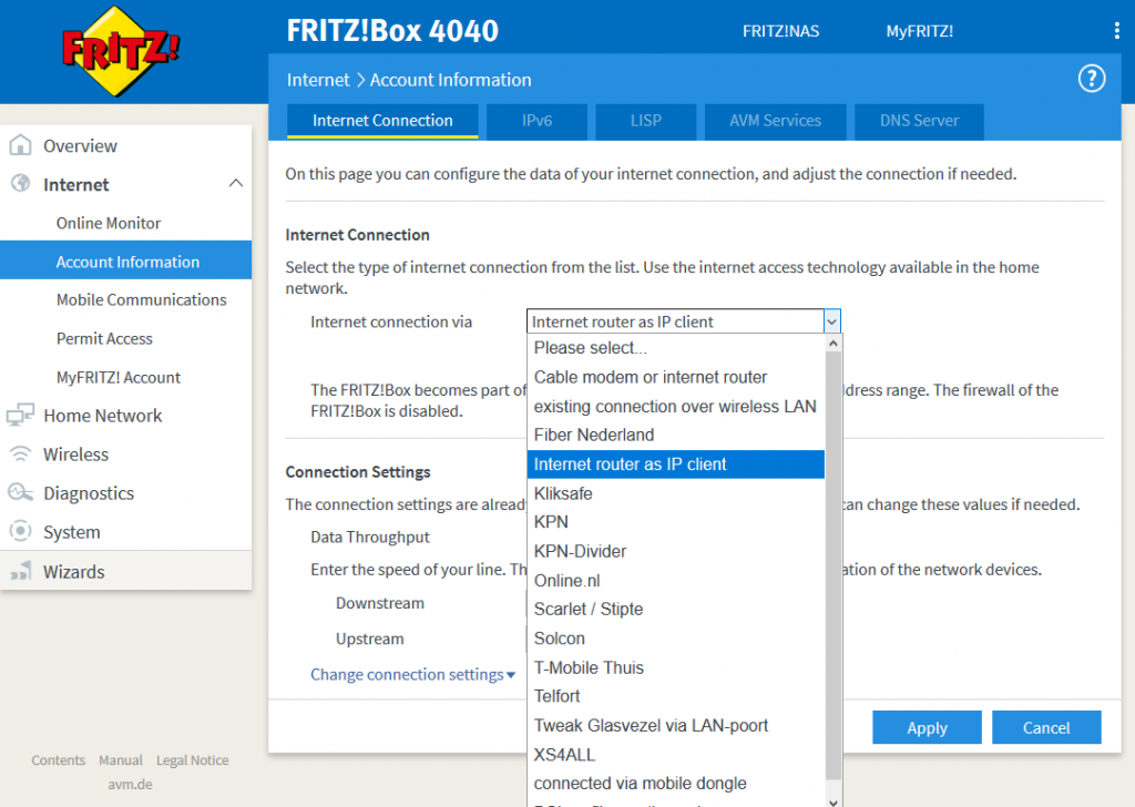 KB: Change the connection type of an AVM Fritz!box 4040 to operate as an accesspoint