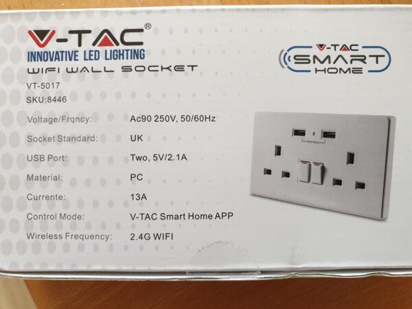 V-Tac VT-5017: box back side
