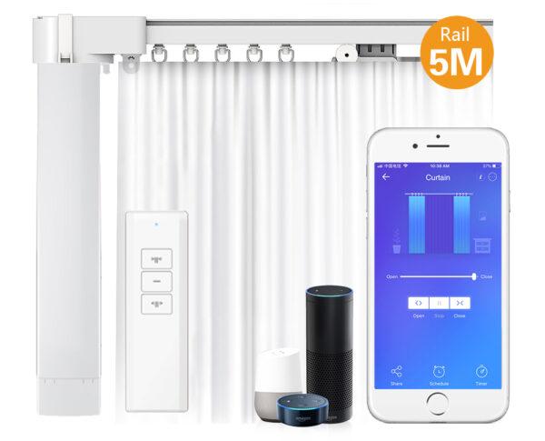 Eachen WiFi Smart Motorized Electric Curtain Set: overview