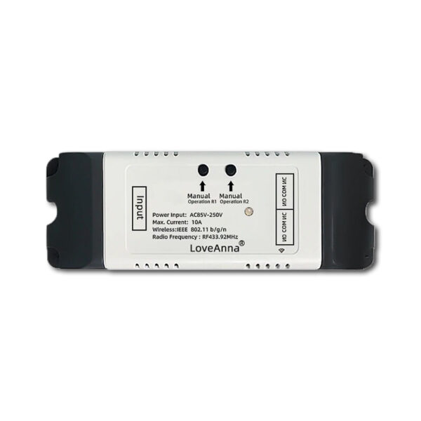 LoveAnna 2CH WiFi Switch: front