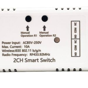 Mumubiz 2CH Smart Switch - 85 - 250V WiFi + RF