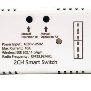 Mumubiz 2CH Smart Switch - 85 - 250V WiFi + RF