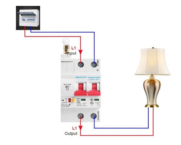 WDYK ZJSB9 80Z (2P): wiring diagram