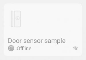 WiFi door sensor shows up as offline