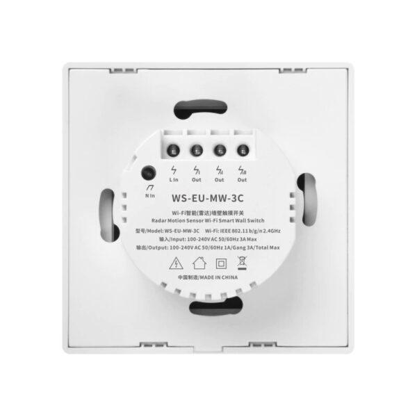 Centechia WS-EU-MW-xC (Radar Motion Sensor Switch): back