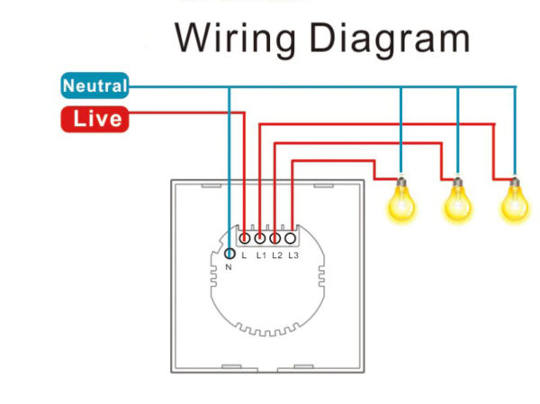 Choifoo WS-EU-MW-xC (Radar Motion Sensor Switch): wiring diagram