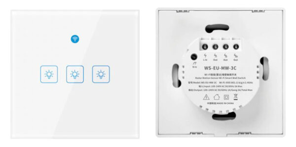 Choifoo WS-EU-MW-xC (Radar Motion Sensor Switch): 3 channels front and back