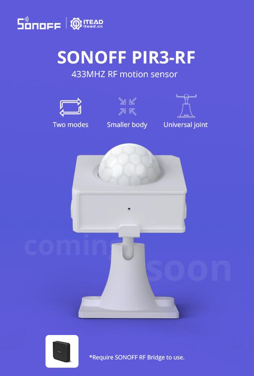 Sonoff PIR3-RF announcement