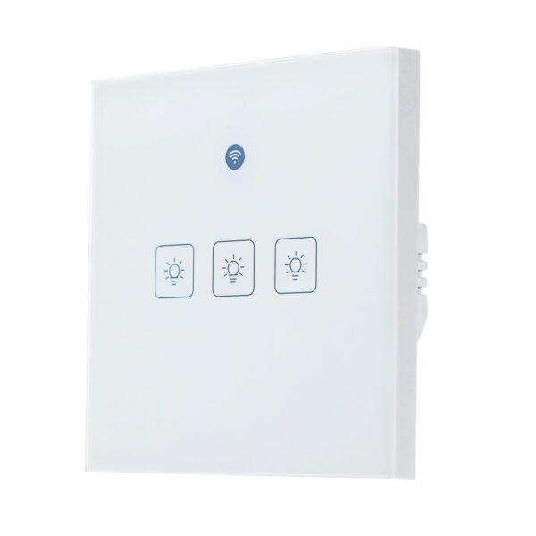 KKMOON Radar WIFI Smart Wall Switch: 3-gang - front, right