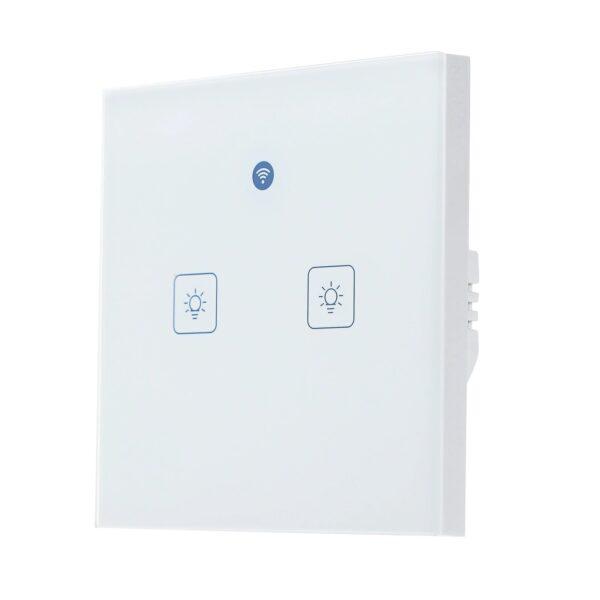 KKMOON Radar WIFI Smart Wall Switch: 2-gang - front, right
