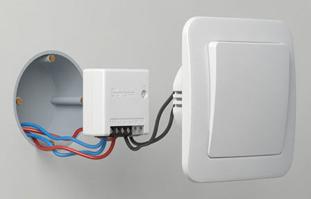 Sonoff ZBMINI - can be placed in-wall behind switch
