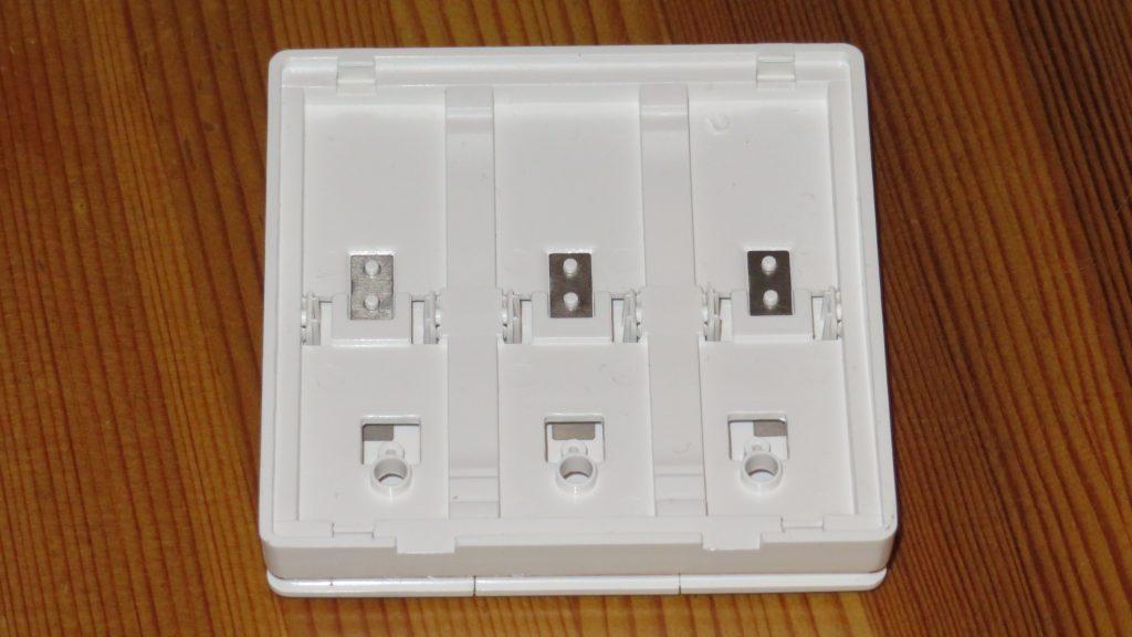 OEM 433 MHz RF 3-gang mechanical switch: Lid