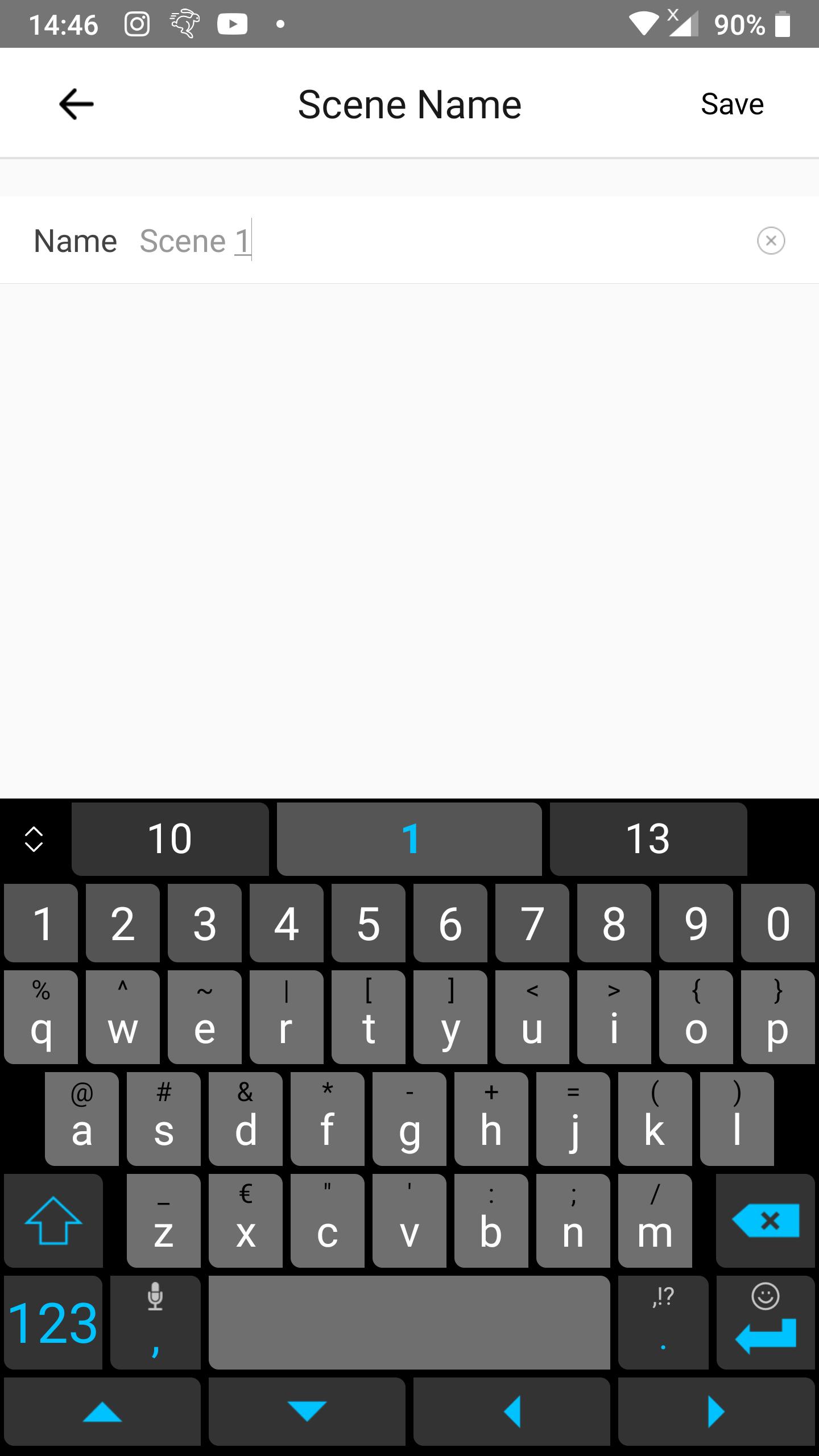 KB: 1-button toggle: Insert scene name