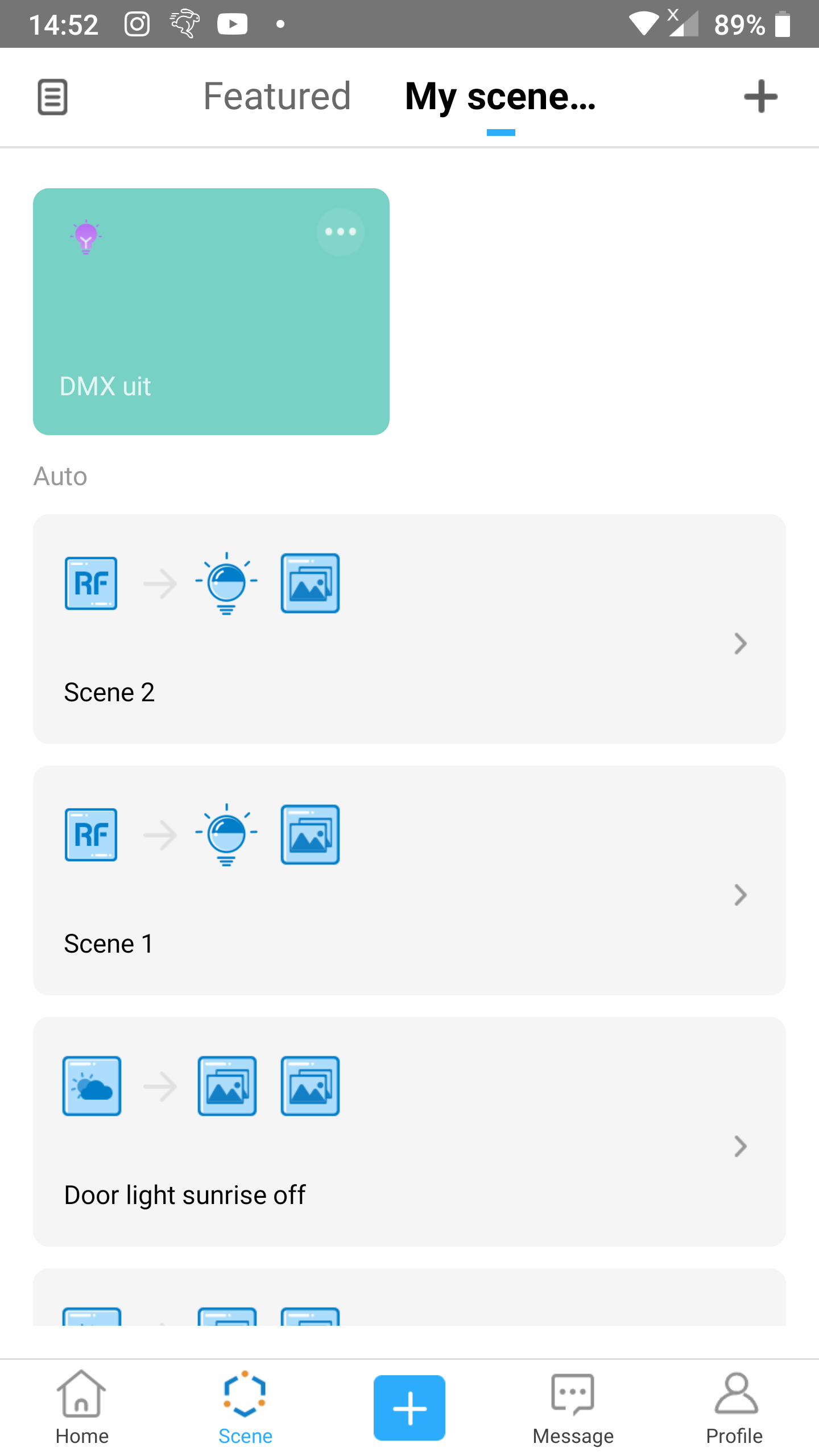 KB: 1-button toggle: Overview of auto scenes