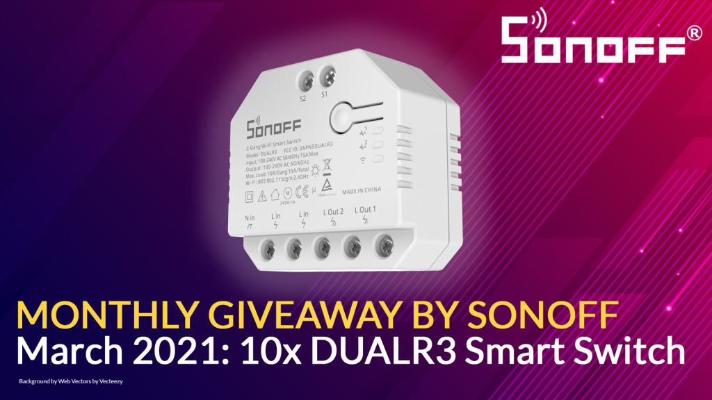 Sonoff monthly giveaway - March 2021