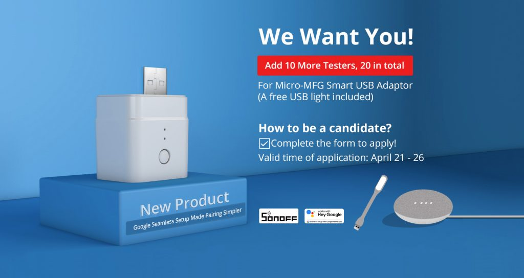 Sonoff is seeking testers for Micro MFG (update)