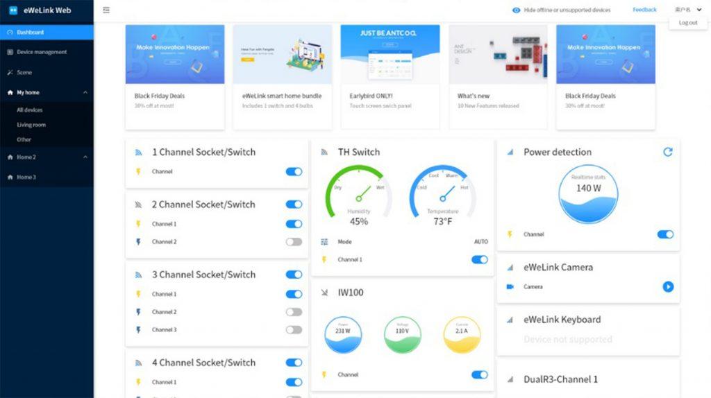 Improved eWeLink Web low quality screenshot