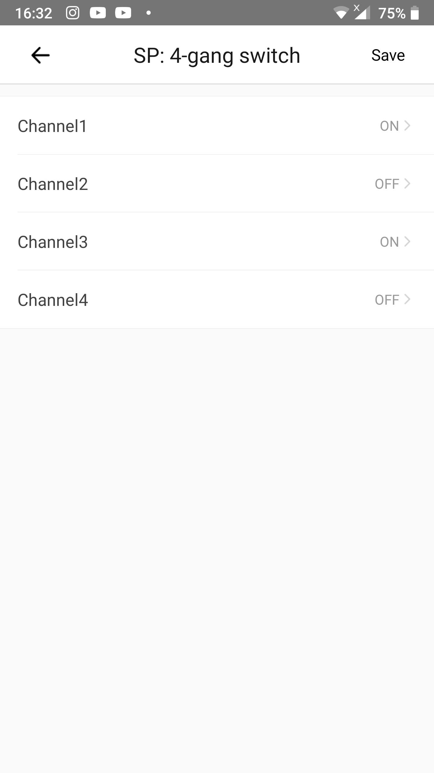 KB: Link 2 scenes to shortcuts in eWeLink Keyboard: odd channels on actions 4-channel device