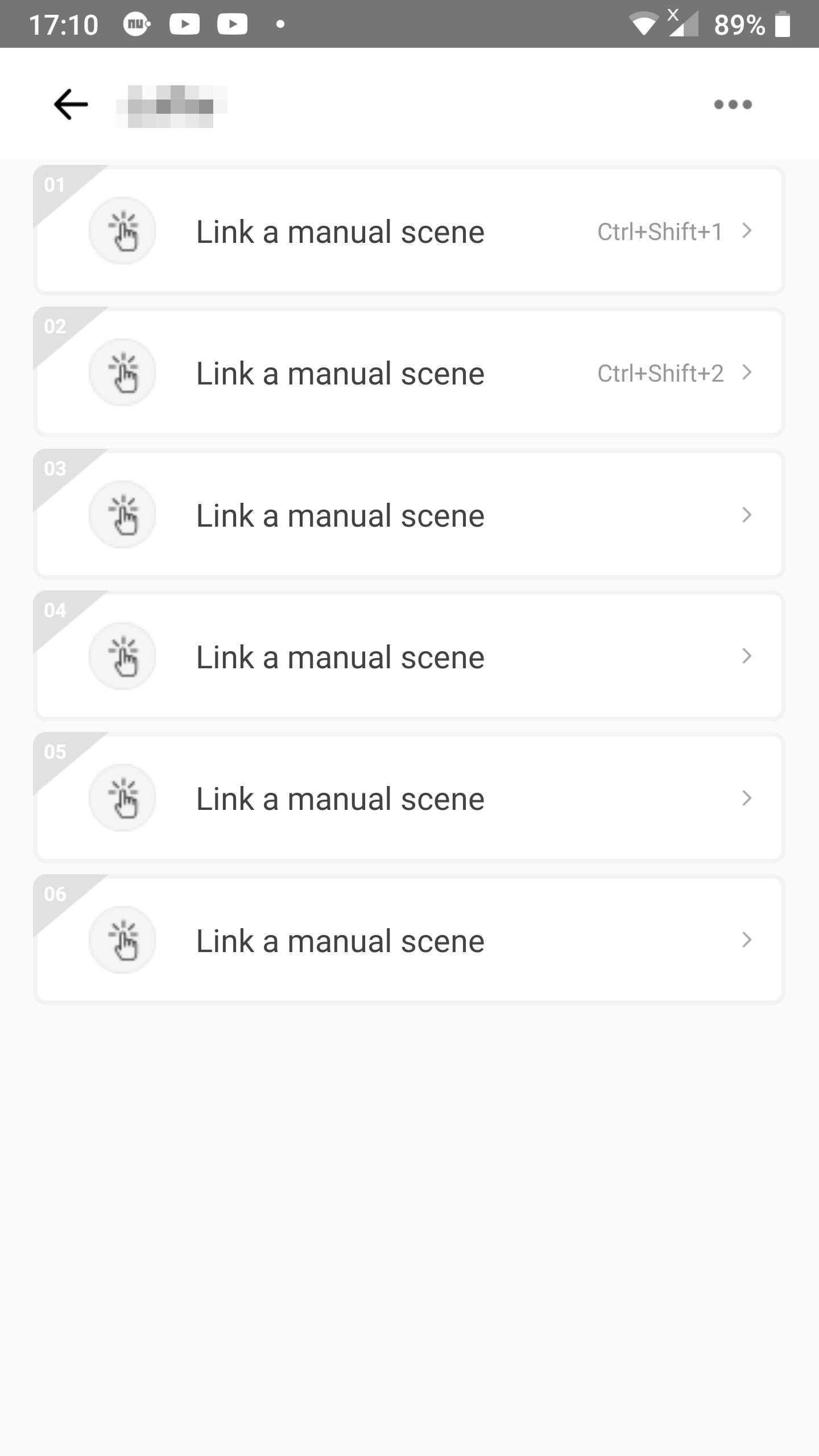 KB: Link 2 scenes to shortcuts in eWeLink Keyboard: linking screen without linked scenes