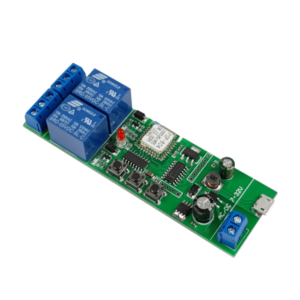 SmartWise 5V-32V 2-gang smart relay switch: top, right