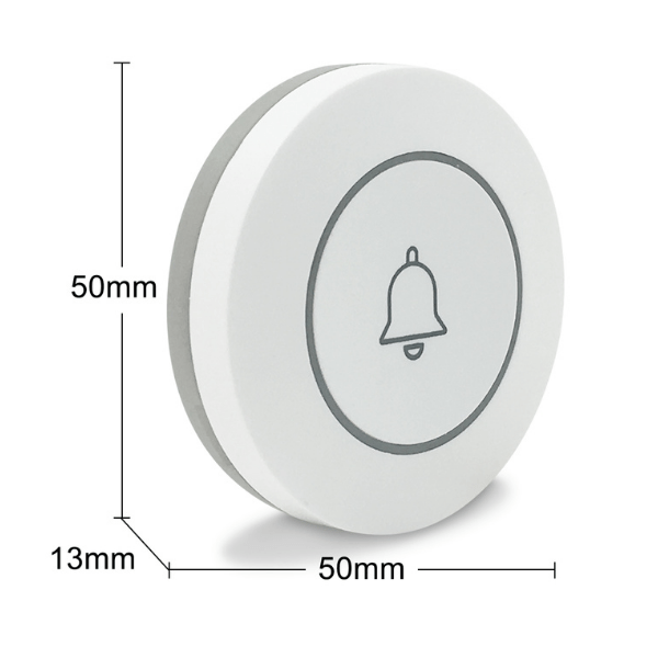 SmartWise RF button: dimensions