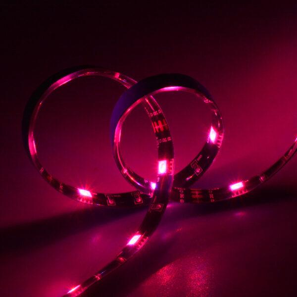 Sonoff L2: example of light strip emitting pink light