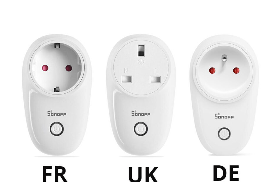 Sonoff S26R2ZB: 3 different plug standards
