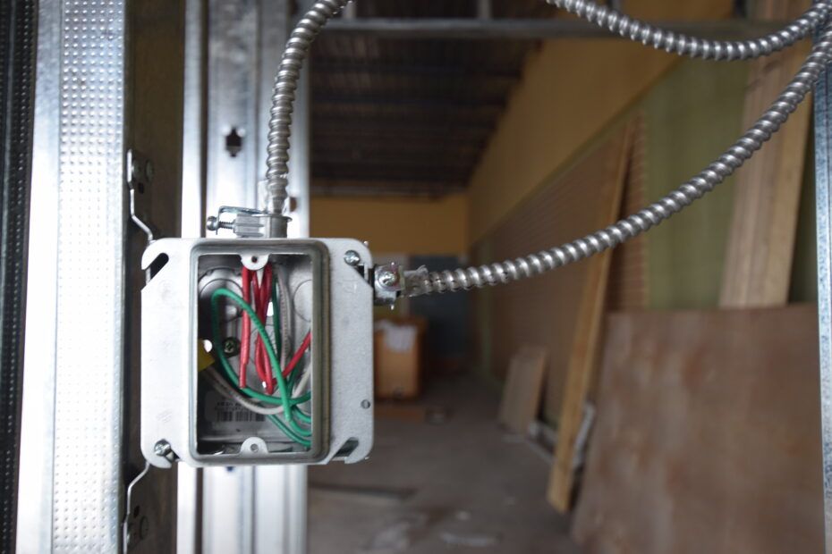 Junction box for electrical outlet (America)